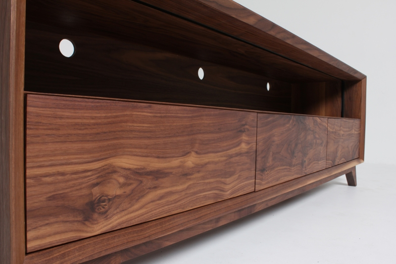 American Walnut Media Unit