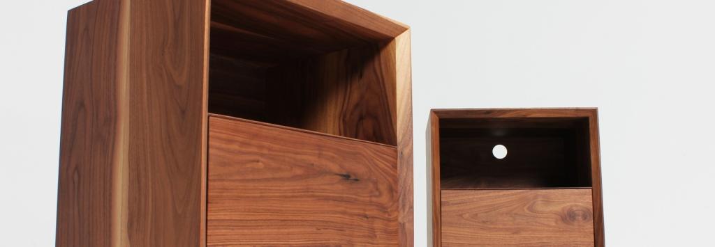 District Furniture hand made bedside units bespoke solid timber furniture