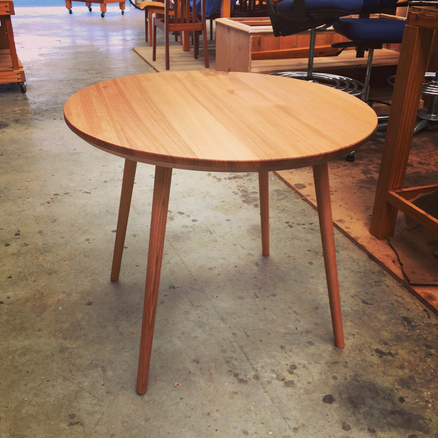 Mid-Century table designed and made by District Furniture, located in Clarence Mill, Bollington, Cheshire