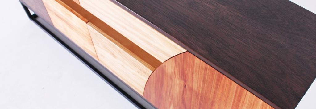 Custom furniture hand made hallway unit, District Furniture, Bollington, Clarence Mill
