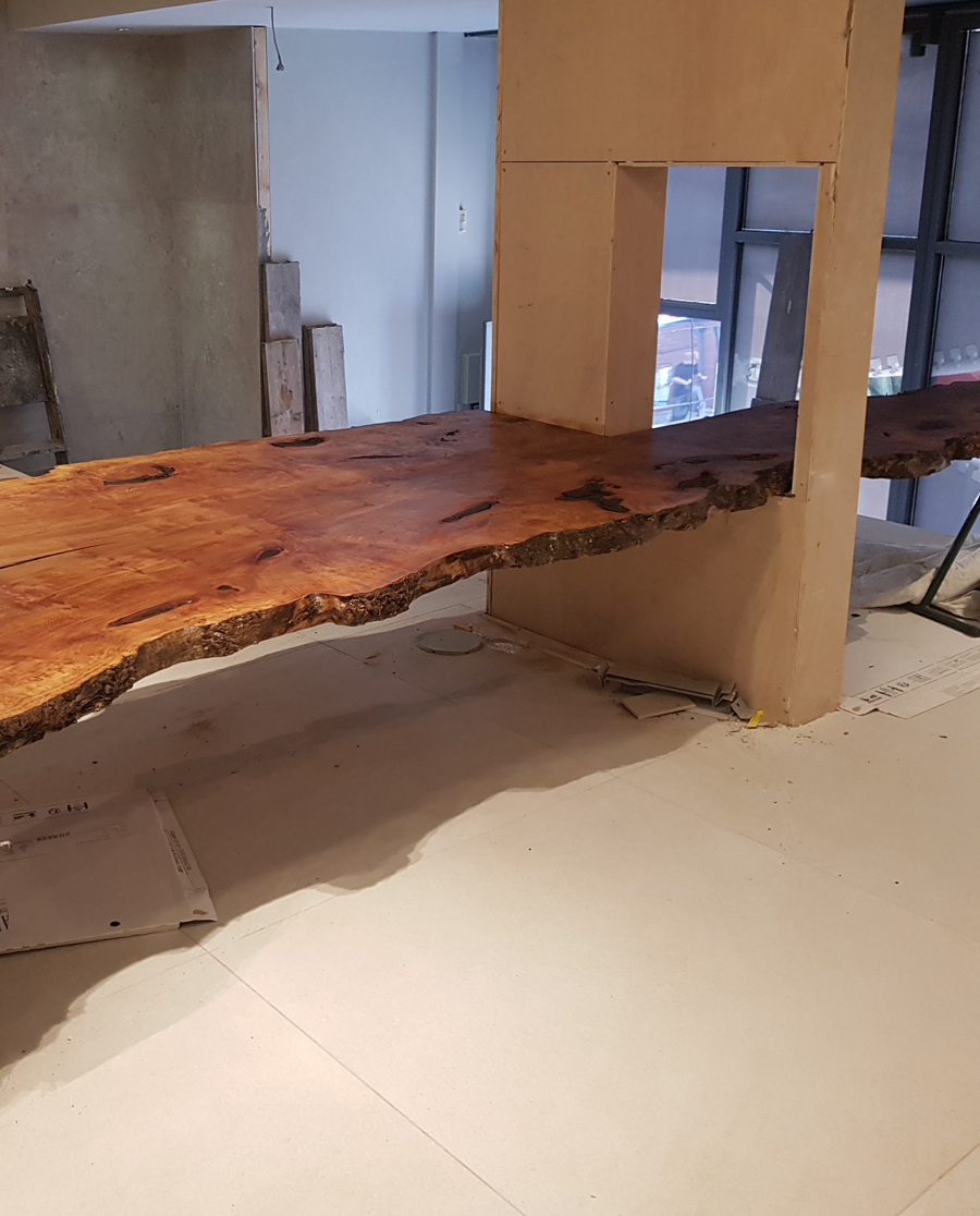 Custom made meeting table solid timber