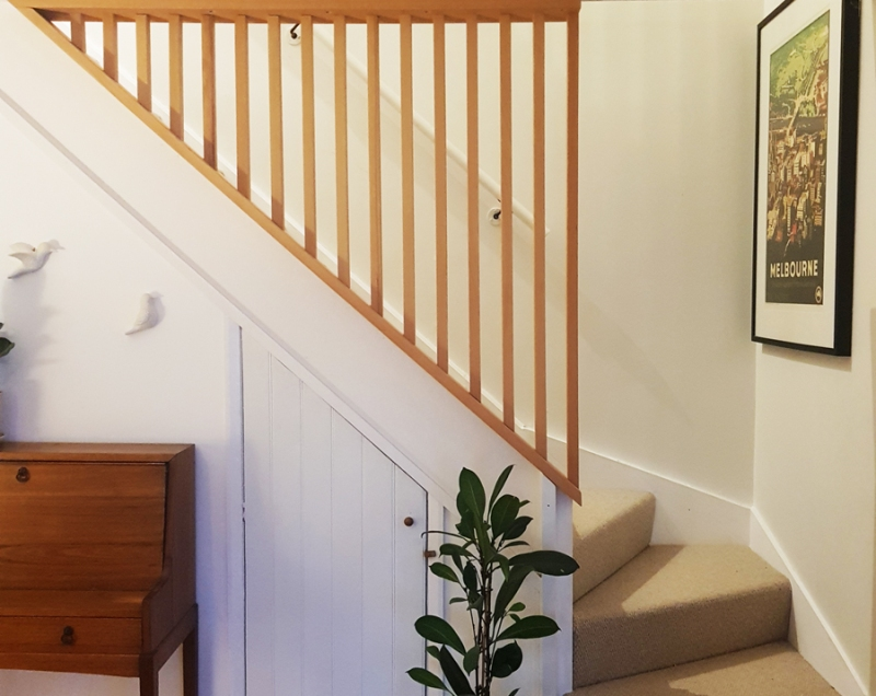 custom made staircase safety barrier